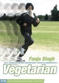Fauja Singh est végétarien, marathonien, centenaire